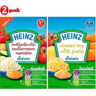 Heinz Cereals Combo (Pack of 2) Multigrain With Mediterranean Vegetables + Cheesy Veg Pasta