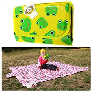 Kf Baby Feeding & Play Mat - Friendly Frog (68 X 61 Inch)