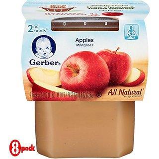 Gerber 2nd Foods 2Pk 226G (8oz) - Apples (Pack of 8)