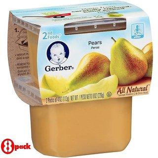Gerber 2nd Foods 2Pk 226G (8oz) - Pears (Pack of 8)