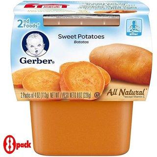 Gerber 2nd Foods 2Pk 226G (8oz) - Sweet Potatoes (Pack of 8)