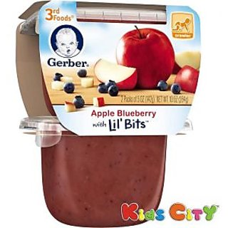 Gerber 2nd Foods 2pk 226g (8oz) - Apple Berry with Mixed Cereal (Pack of 3)