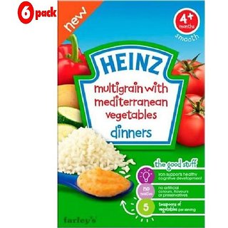 Heinz Multigrain With Mediterranean Vegetables (4m+) - 125G (Pack of 6)