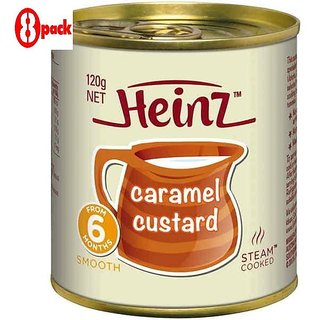 Heinz Caramel Custard (6m+) - 120G (Pack of 8)