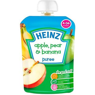 Heinz Apple, Pear & Banana Puree (4-36m) - 100G