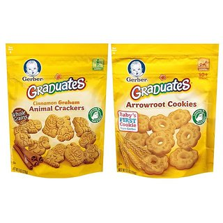 Gerber Graduates Cookies Combo - Arrowroot Cookies + Animal Crackers