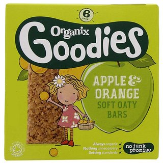 Organix Goodies Apple & Orange Soft Oaty Bars (6Pk)