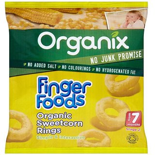 Organix Finger Foods 20G (7m+) - Organic Sweetcorn Rings