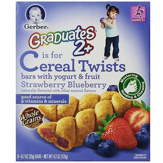 Gerber Graduates Cereal Twists 120G - Strawberry Blueberry