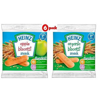 Heinz Biscotti Snack Combo (7m+) (Pack of 2) 60G - Apple + Organic