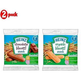 Heinz Biscotti Snack Combo (7m+) (Pack of 6) 60G - 3 Banana + 3 Organic