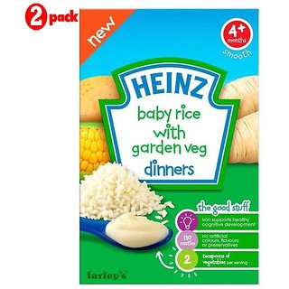 Heinz Baby Rice With Garden Veg Dinners (4m+) - 125G (Pack of 2)