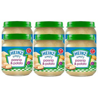 Heinz Simply Parsnip & Potato (4m+) - 120G (Pack of 6)