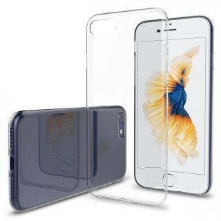 APPLE iPHONE 7 PLUS TRANSPARENT SOFT SILICONE BACK JELLY COVER