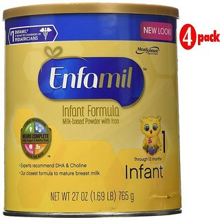 Enfamil Infant Formula Stage 1 (0-12m) - 765G (27oz) (Pack of 4)