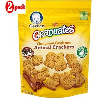 Gerber Graduates Animal Crackers 170G - Cinnamon Graham (Pack of 2)