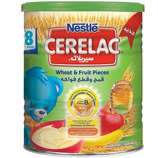 Nestle Cerelac Wheat & Fruit Pieces (8m+) - 400G (Imported)