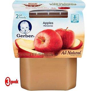 Gerber 2nd Foods 2Pk 226G (8oz) - Apples (Pack of 3)