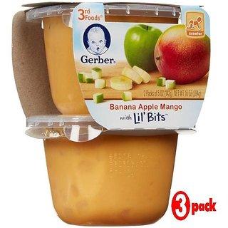 Gerber 3rd Foods 2Pk 284G (10oz) - Banana Apple Mango With Little Bits (Pack of 3)