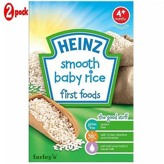 Heinz Smooth Baby Rice First Foods (4m+) - 100G (Pack of 2)