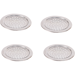 Stainless Steel Floor traps round shape (Packet of 4 Pcs.)