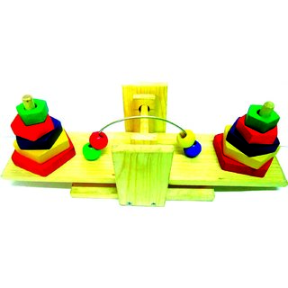 Learners Play Balance Tower With Beads
