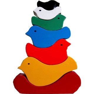 Learners Play Birds Stacking Tower