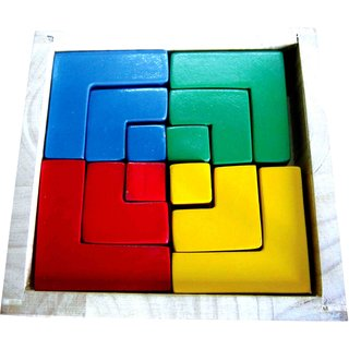 Learners Play Square Colored Blocks