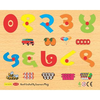 Learners Play Hindi Counting With Pictures ( Knob ) Size 9x12