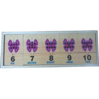 Learners Play Counting Butterfly Jigsaw Blocks(1-10) with storage box
