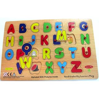 Learners Play Alphabets With Pictures Inside
