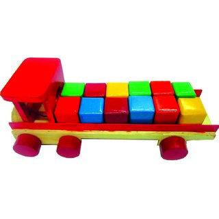 Learners Play Building Block Truck