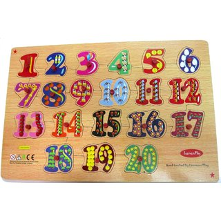 Learners Play Counting Puzzle 1-20 Size  ( 12x18 ) ( Knob )