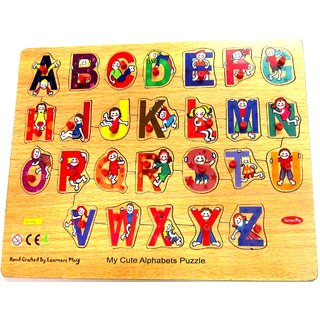 Learners Play Cute Alphabet Puzzle Size 12x15