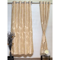 Homelife Beige Eyelet Style Door Polyester Curtains