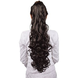 Homeoculture Natural Brown hair extension with Plastic clutcher 24 inches