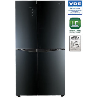 LG 1001 L GR-D35FBGHL French Door Frost Free Refrigerator - LUMINOUS BLACK