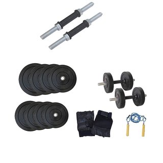 Factor Power 20 Kg. Weight Plates + Dumbell Rods + G.G + S.R