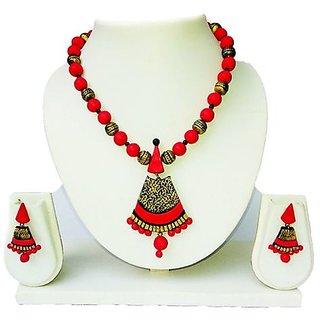 Terracotta-Gujinzhu type Pendant with Necklace & Earrings