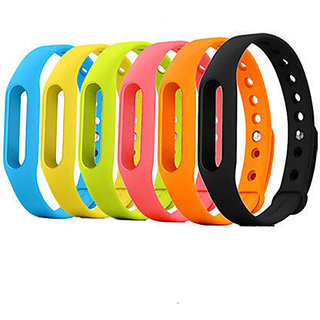 1 Piece Wristband Strap Bracelet Silicone for  Mi band Bracelet Black