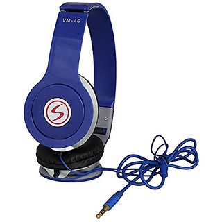 Signature VM-46 Over Ear Wired Headphone without mic blue