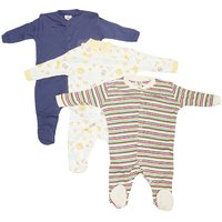 Wonderkids Navy Blue Romper Suit Pack of 3 For New Born