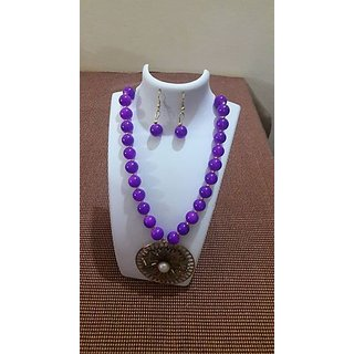 Customized Stone jewellery In Purple Color