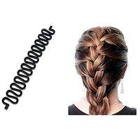 Homeoculture Pack Of 1 Medium Size Hair Donut + 1 French Twist Braid Tool