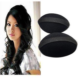 Homeoculture Pack of 1 medium size hair donut + set of 2 piece different size hair puff high volumizer puff maker