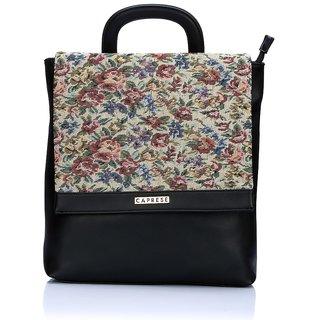 Caprese Beige Back Padding Backpacks