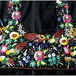 Latest Black Colour Beautiful Designer Blouse-Only Material