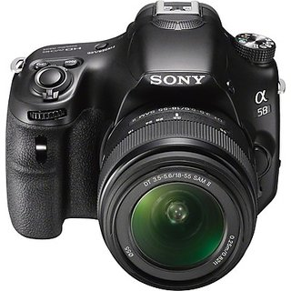 Sony SLT-A58K SLR (Black, with 18 - 55 mm Kit)