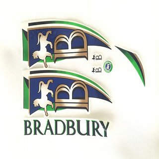 cricket bat sticker - bradbury