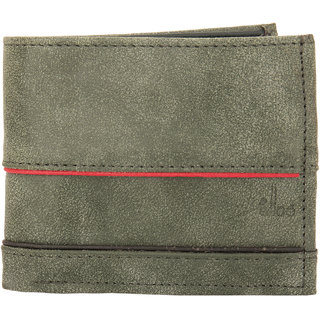 Green wallet with twin Colored piping